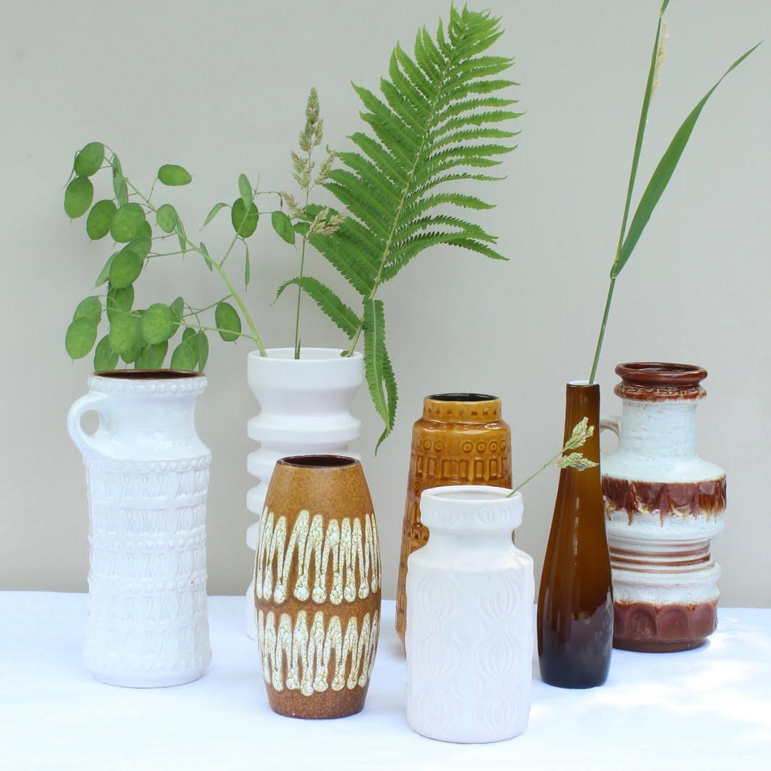 mix van vazen west germany en flora gouda