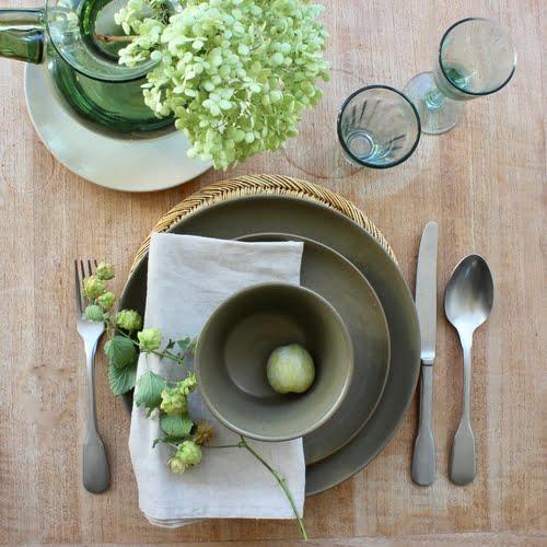 tafelstyling met groen