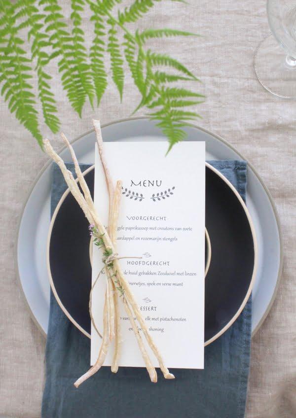 grissini beeld met menu