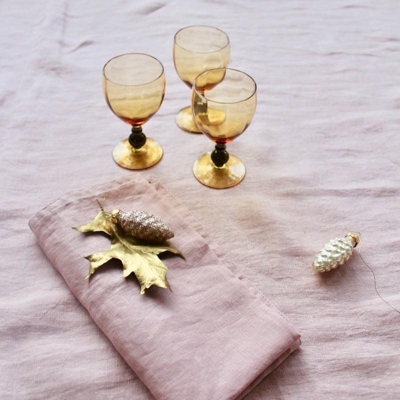 likeurglaasjes van amber glas