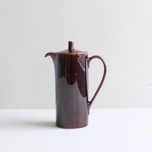 vintage koffiepot bruin hoog