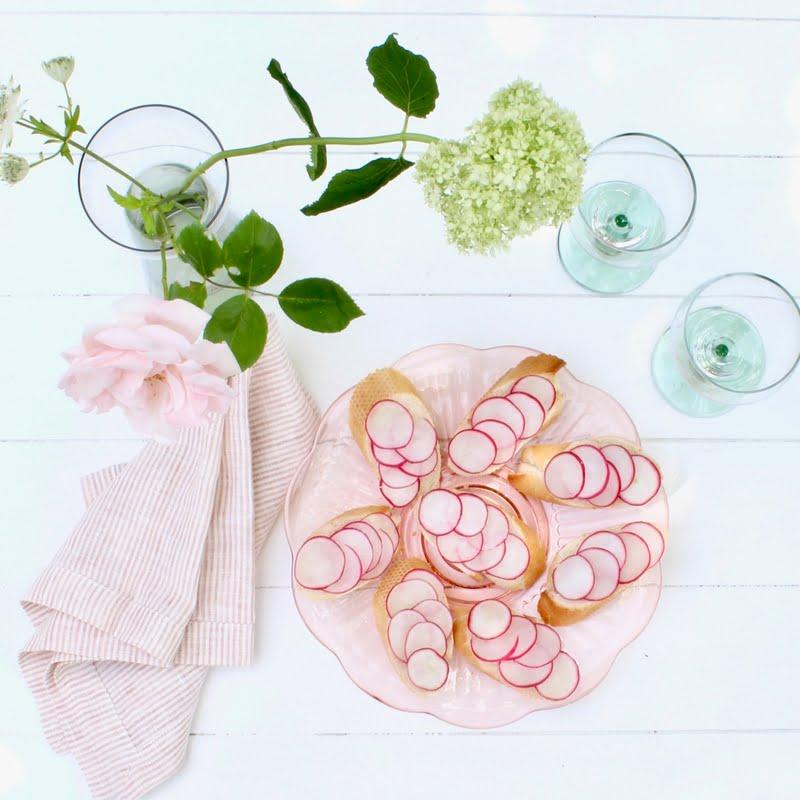 vintage schaal van roze glas