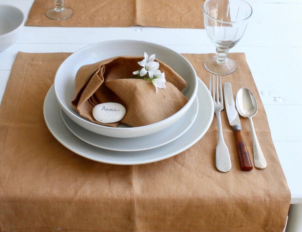 tafelstyling tip, servet als placemat
