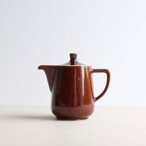 Kleine, bruine, vintage koffiepot