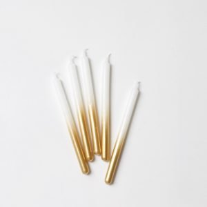 potloodkaarsen wit met goud