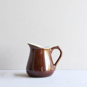 vintage melkkannetje bruin