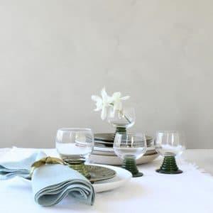vintage mini roemers op tafel
