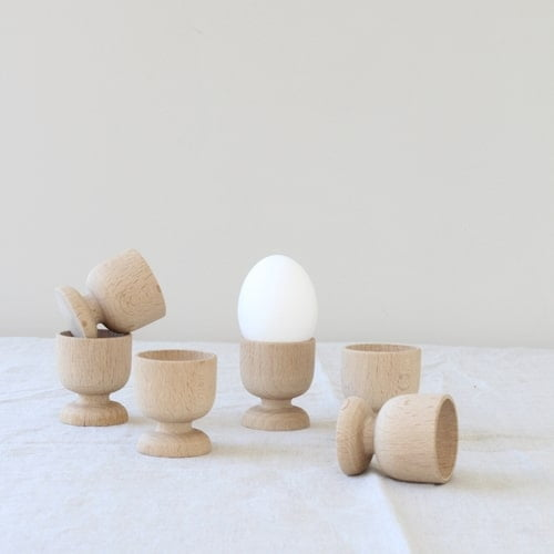 vintage houten eierdopjes