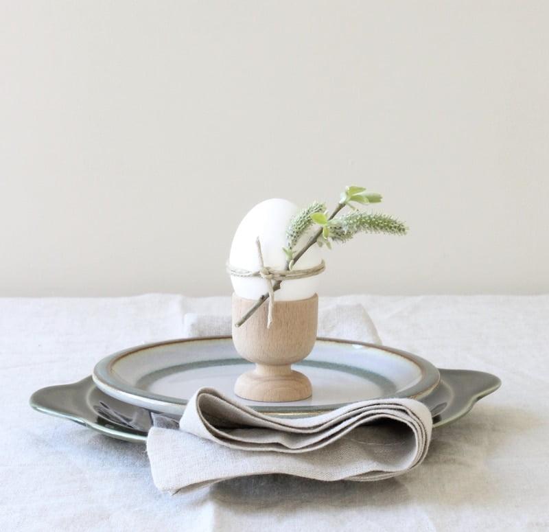 Decoratie op ei voor Pasen