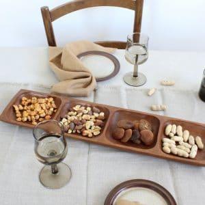vintage pindaschaal van hout