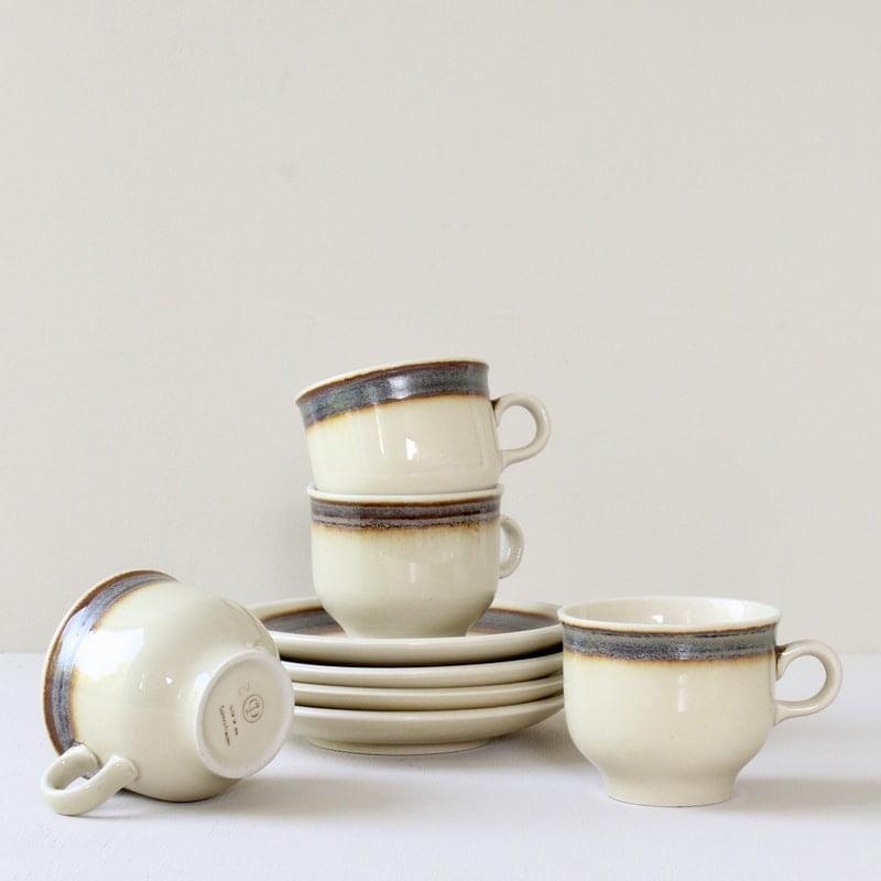vintage kop en schotels van Colditz