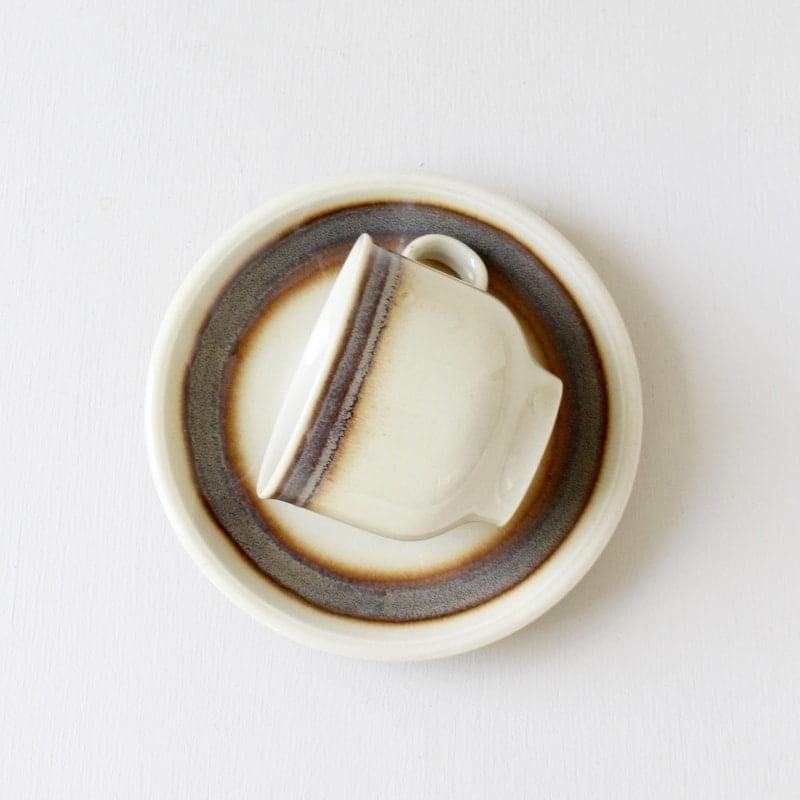 Colditz kop en schotel met antraciet rand