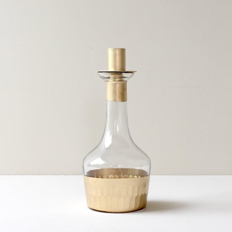 Flessenkandelaar met goud opzetstuk