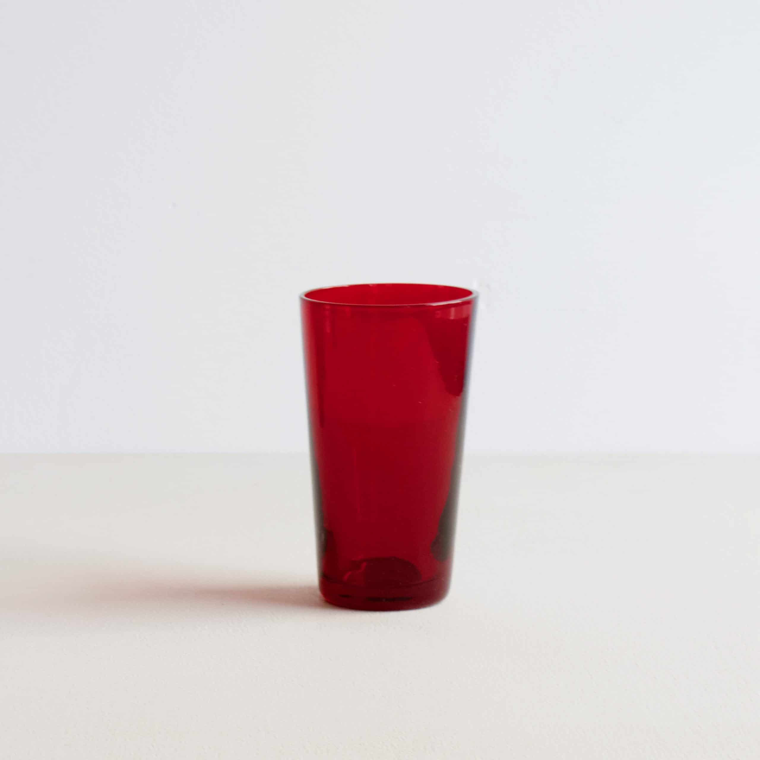 klein rood vintage glas
