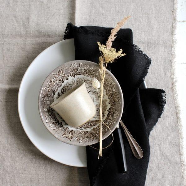 Zwart linnen servet Studio Ro Smit