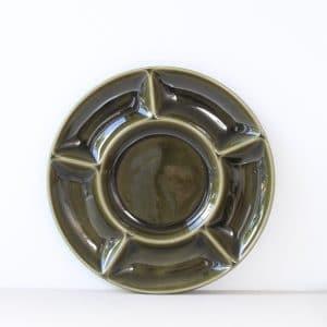 Vintage groen fonduebord