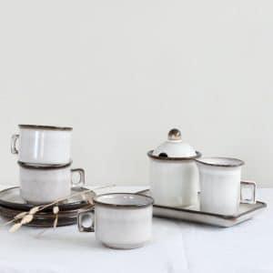 Suiker en melk set Potterie de Driehoek