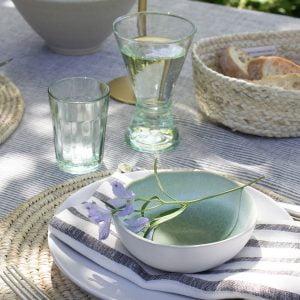 Glazen van gerecycled glas