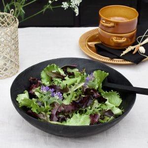 Salade schaal zwart hout