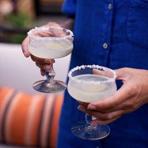 Vintage cocktail glazen