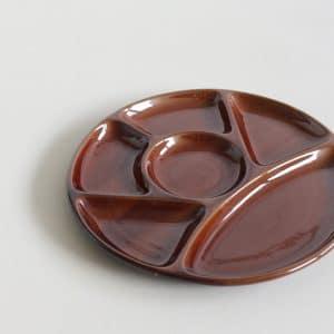 Fonduebord donker bruin