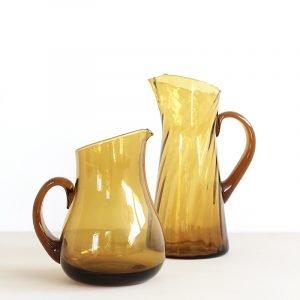 Vintage karaf van glas