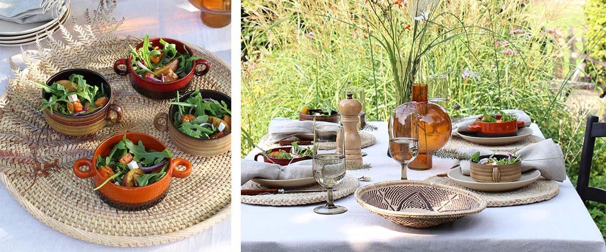 Buiten eten in de herfst